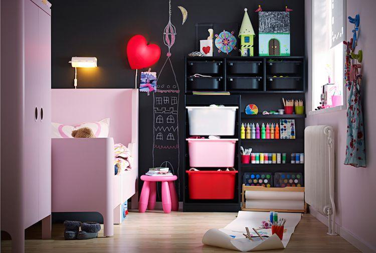 Idées chambre enfant ikea meubles busunge trofast