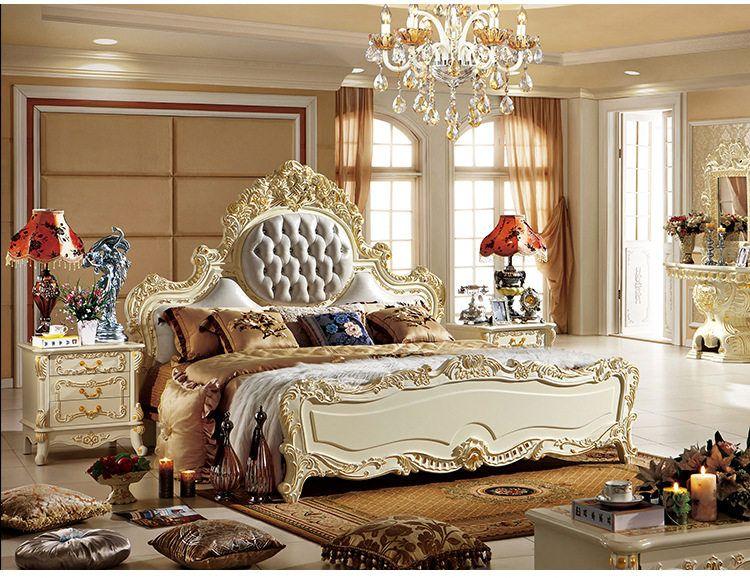 ProCARE Moderne Mobilier De Chambre King Size Lit Avec Cuir ...