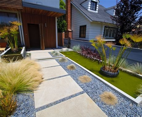 Attractive Mexican Beach Pebbles For A Modernist, Low Maintenance Yard. Front Yard LandscapingLandscaping  IdeasBackyard ...