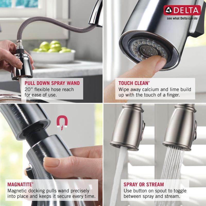 Delta 9178 Dst Bar Faucets Delta Faucets Pull Out Kitchen Faucet