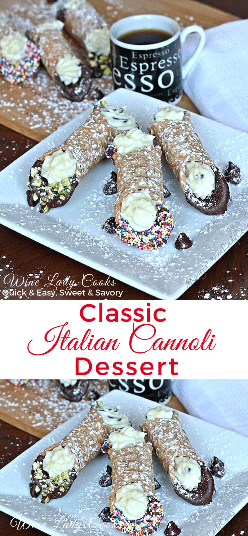Classic Italian Cannoli Pastry Dessert Recipe