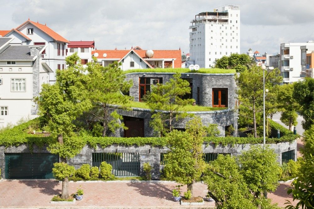Gallery Of Stone House Vo Trong Nghia Architects 5 Stone House Green Roof Architect