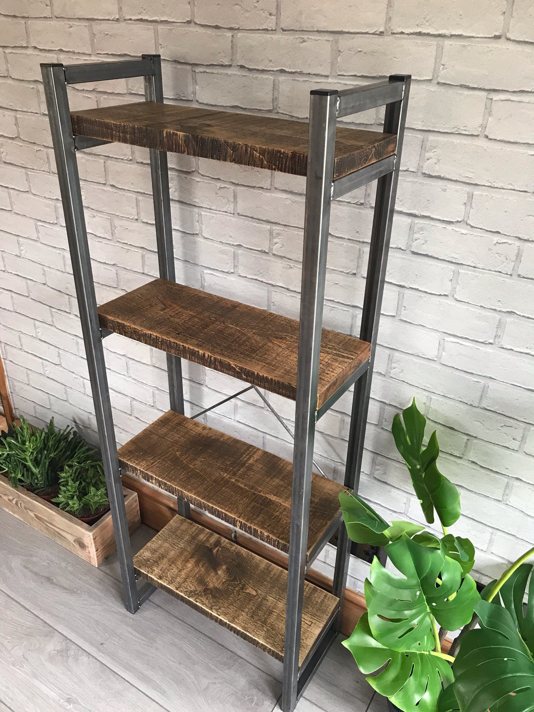 Industrial Style Free Standing Bookcase Shelving Unit 4