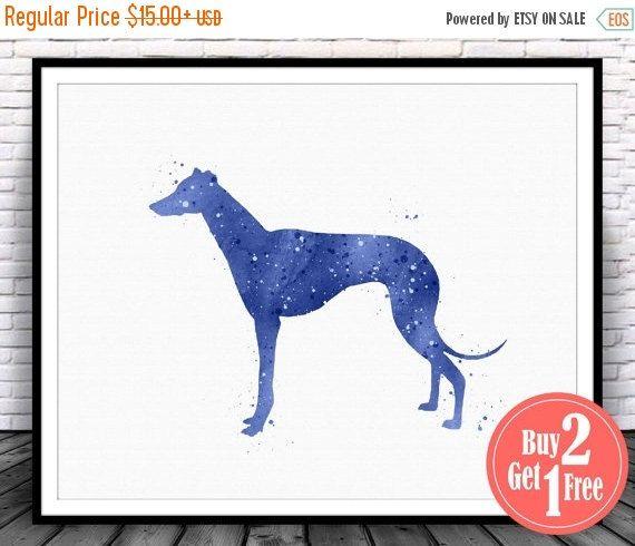 Big Sale Greyhound Art Greyhound Print Greyhound Decor Greyhound Wall Art Greyhound Poster Dog Wall Deco Greyhound Art Watercolor Wall Art Dog Wall Decor
