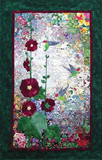 Hummingbirds & Hollyhocks Watercolor Quilt Kit | random ... : hummingbird quilts - Adamdwight.com