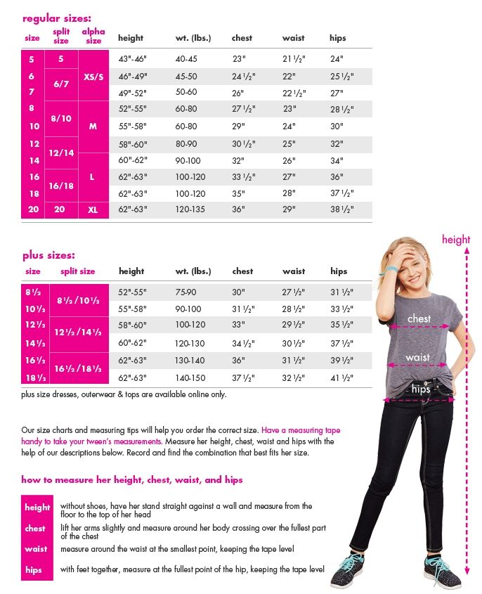 Size chart for tops plus shopping shop justice tween also best kids style images kid styles baby clothes girl fashion rh pinterest
