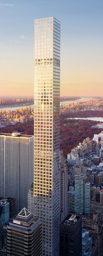 432 Park Avenue Tower New York City Designed By Rafael Vinoly Architects And Slce Architects 85 Floors Height 427m 432 Park Avenue Skyscraper Park Avenue