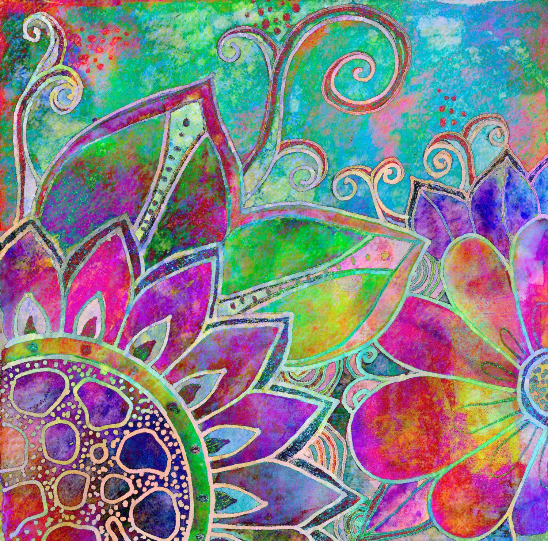 Flowers Print Jubilant Art By Robinmeaddesigns