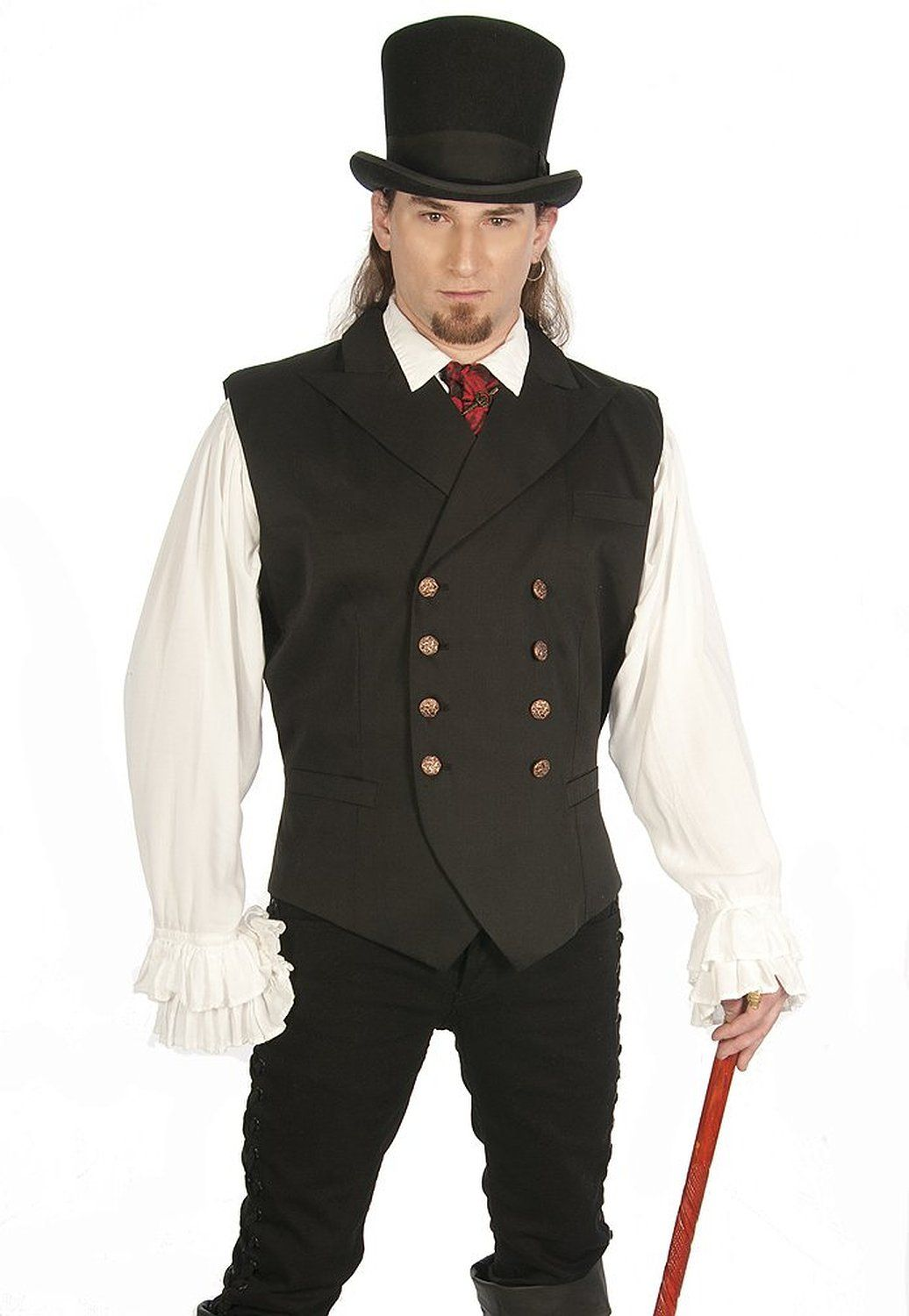 Double Breasted Vest For Men http://steampunkclothingace.com/double-breasted-vest-men/