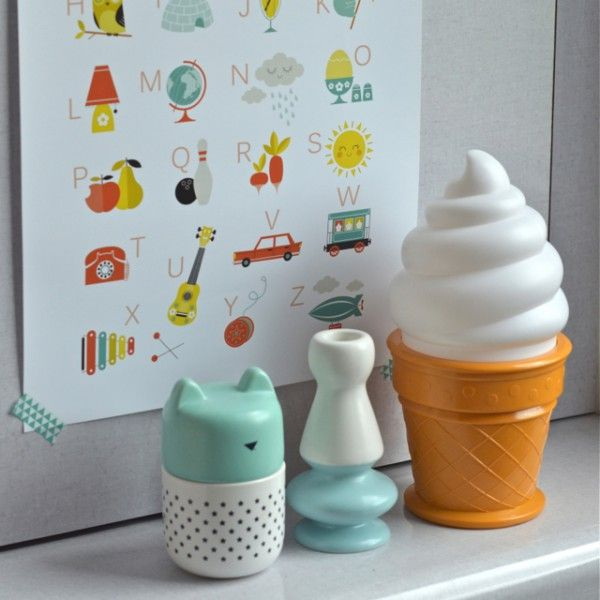 lampe Icecream blanche A little lovely company - deco-graphic.com