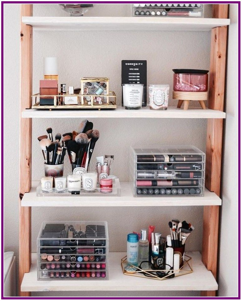 25 Best Makeup Storage Ideas For Organizing Your Makeup Items Beauty Room Minimalist Bedroom Design