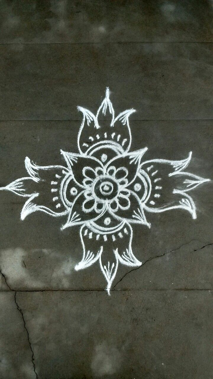 Idea by VENNILA VENKATACHALAPATHY on Kolam Small rangoli