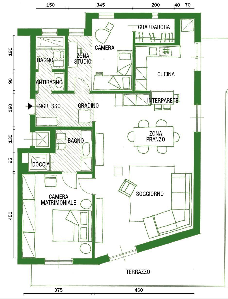 Casa 60 Mq Pianta lavori di ristrutturazione: dal controsoffitto al