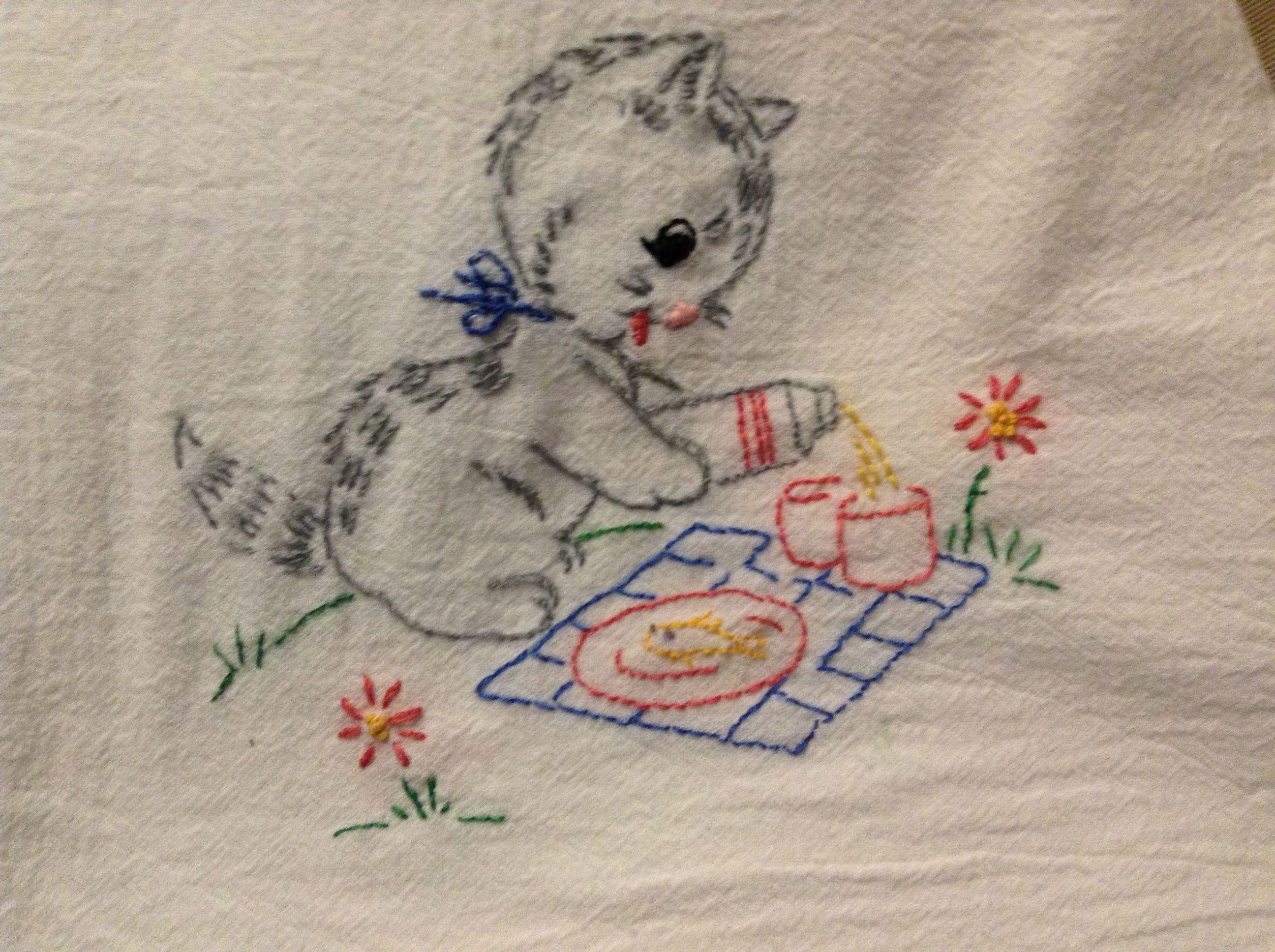 Pin von Sally Warwick auf Embroidery: Kittens | Pinterest