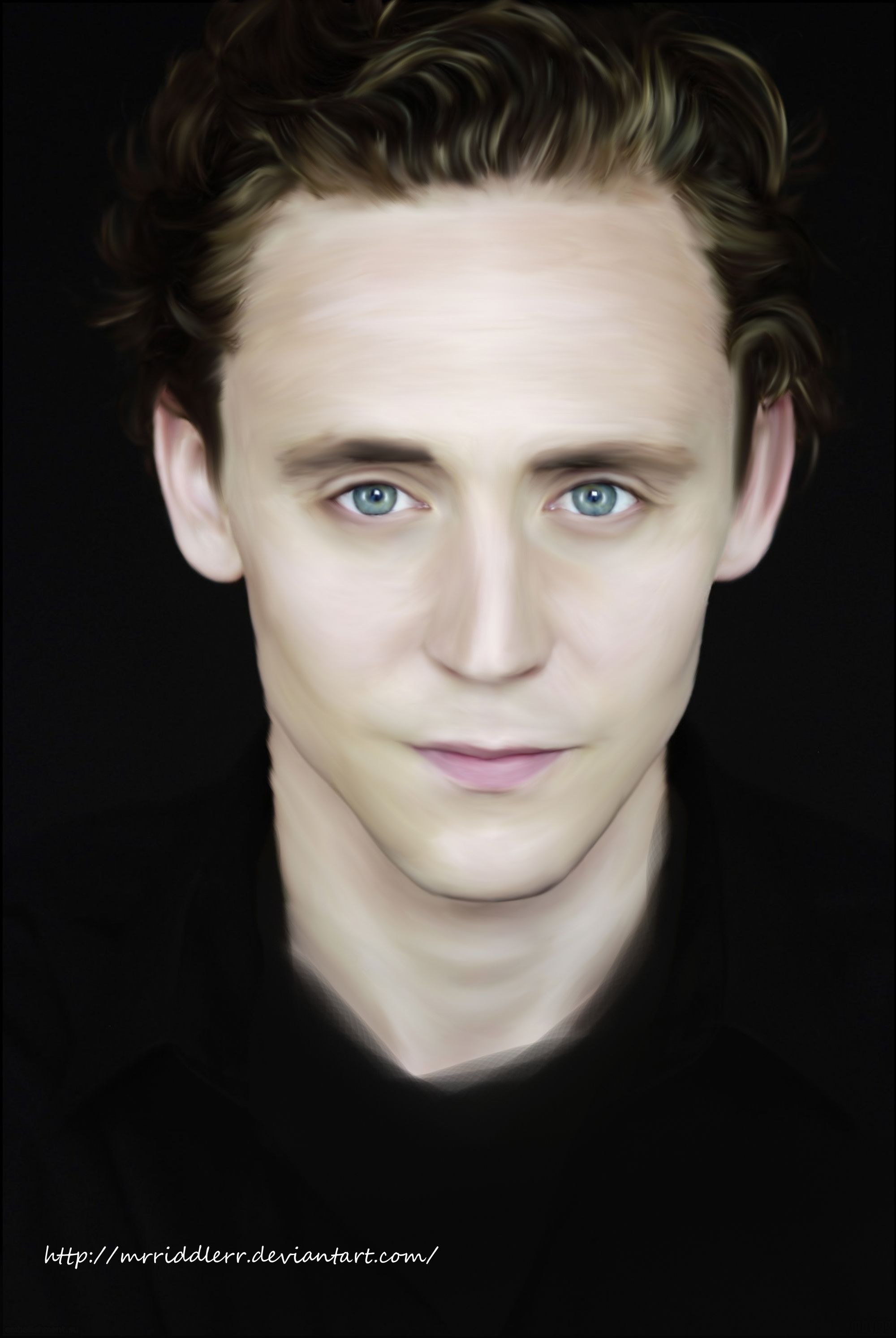 Tom Hiddleston-aka Loki god of mischief in the movie Thor - painting