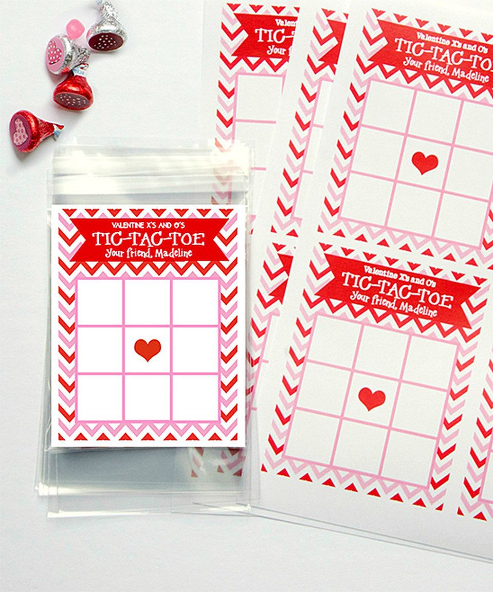 red chevron personalized valentine candy tic tac - Personalized Valentine Candy