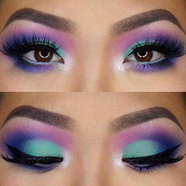 amazing look using morphe palette 35B Eye makeup, 80s