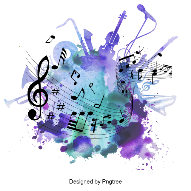 Beautiful Cartoon Hand Painted Music Symbol Staff Aesthetic Hand Painted Music Png Transparent Clipart Image And Psd File For Free Download Music Clipart Music Symbols Music Drawings
