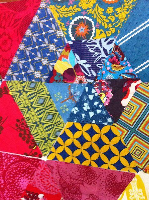 AMH fabrics - the best!! Patchwork Prism Quilt Along by littlbluecottage {littlebluecottage.wordpress.com}, via Flickr