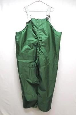 Watershed Green Vinyl.Watershed Men S Overall Vinyl Green Rain Gear Pants Size Xlg