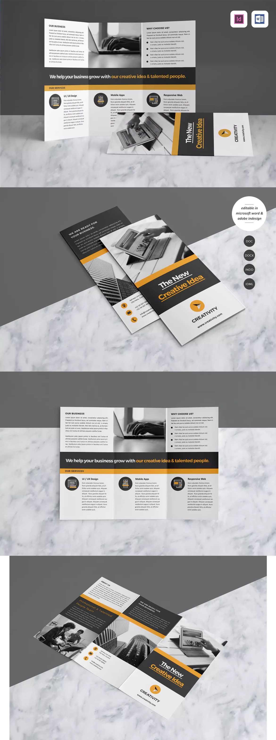 Corporate Brochure Template InDesign INDD A4 | broşür | Pinterest ...