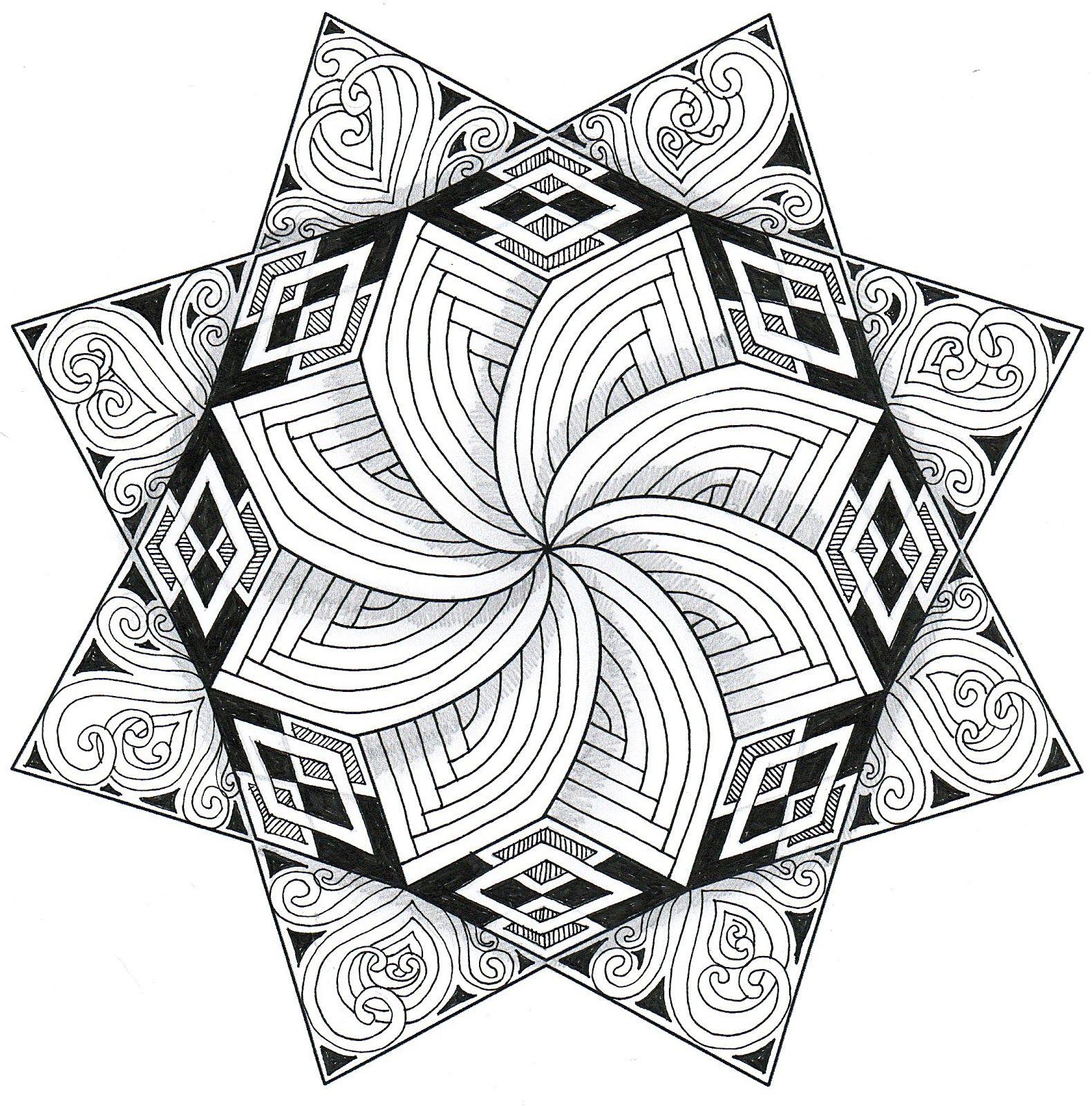 Free Print Zentangle Patterns Banar Designs Dibujo Con Lineas