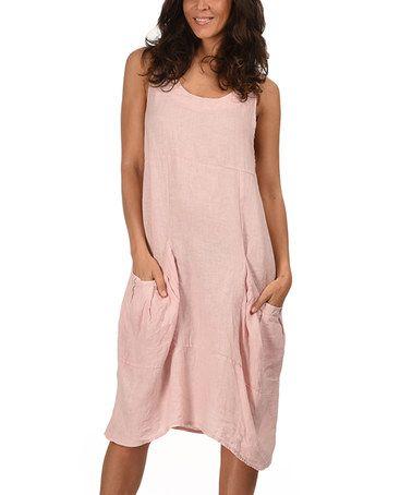 Love This Light Pink Olivia Linen Dress By Couleur Lin On #zulily!  #zulilyfinds
