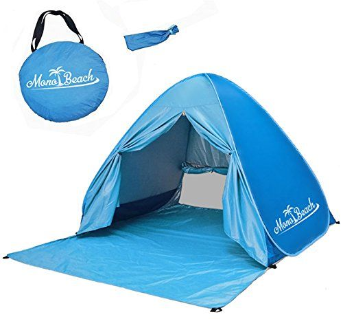 MonoBeach Baby Beach Tent Automatic Pop Up Cabana Sun Shelter for Kids Blue -- Check  sc 1 st  Pinterest & MonoBeach Baby Beach Tent Automatic Pop Up Cabana Sun Shelter for ...