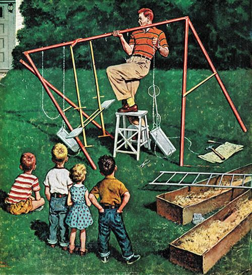 HAPPY FATHER'S DAY! Detail from Saturday Evening Post cover June 16, 1956.