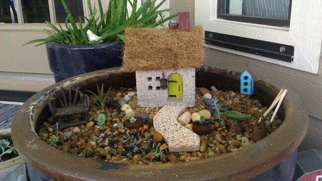 My first fairy garden in the works