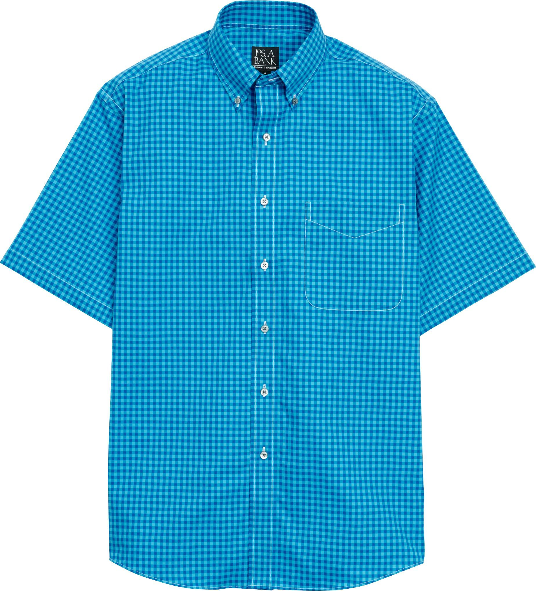3637f7f1e92e Traveler Collection Traditional Fit Button-Down Collar Check Short-Sleeve  Sportshirt - Big   Tall CLEARANCE