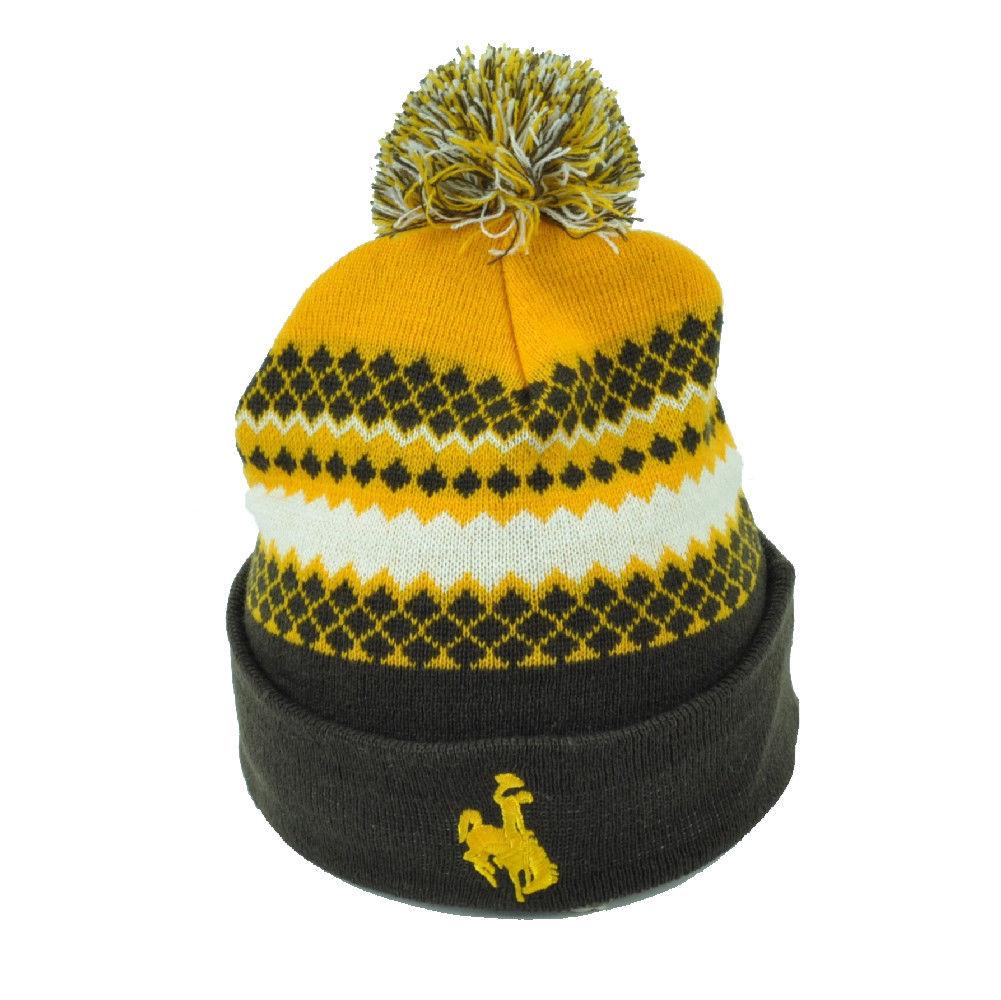 $14 95 - Ncaa Wyoming Cowboys Pom Pom Cuffed Knit Beanie