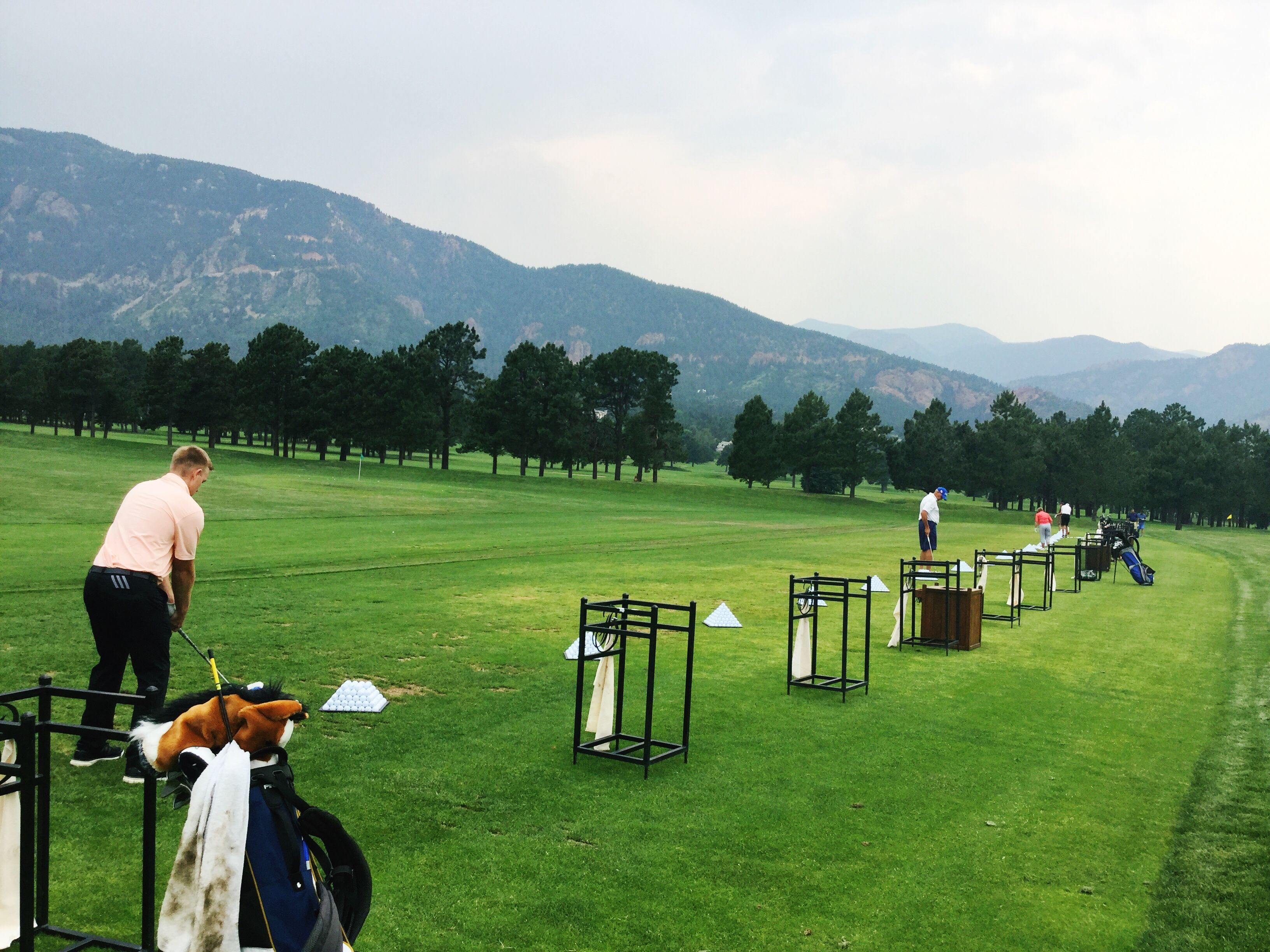 A Driving Range With A View At The Broadmoor Golf Club Driving Range Golf Luxury Travel Destinations