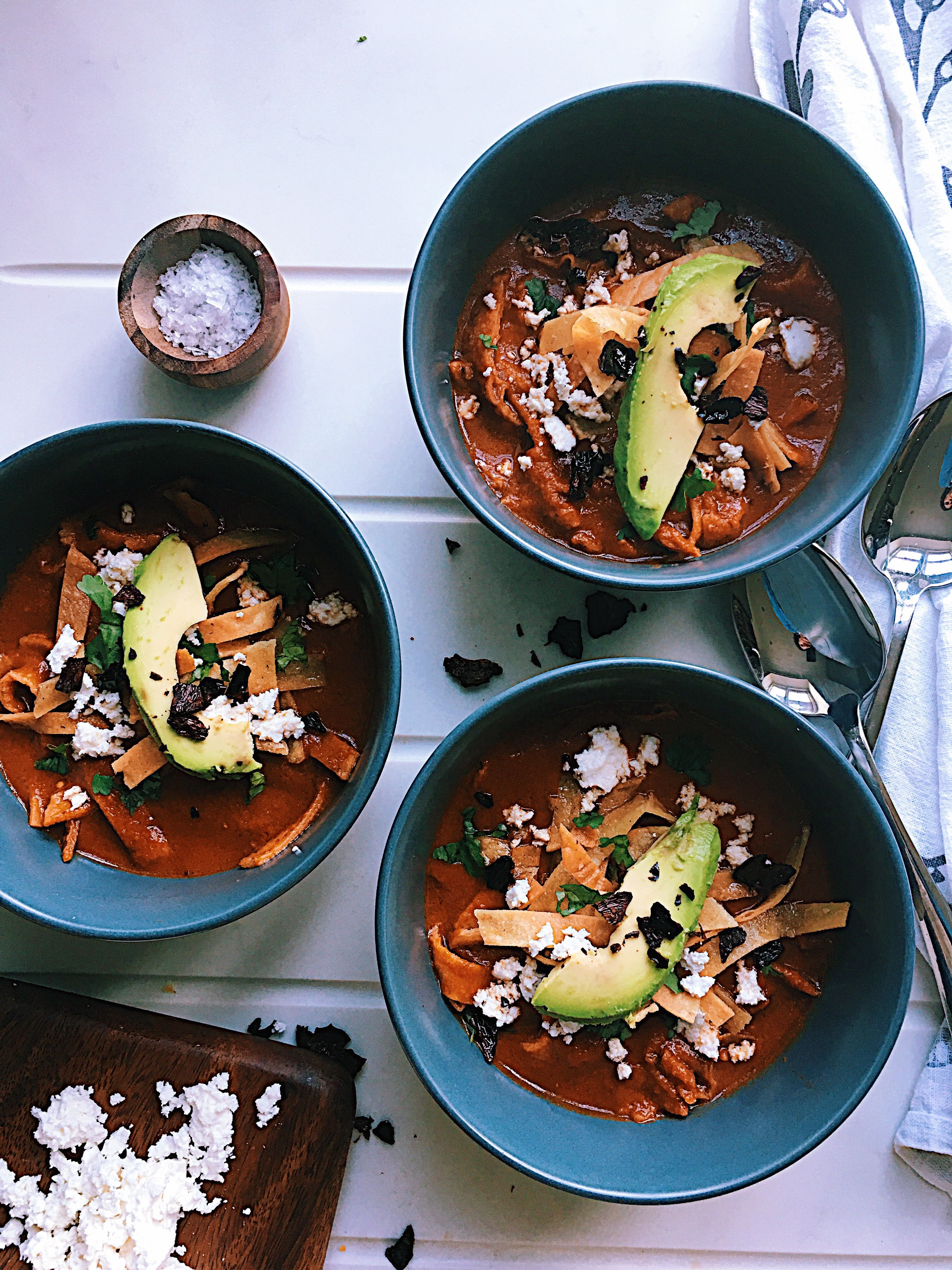 Sopa de Tortilla (Tortilla Soup) Mexican food recipes