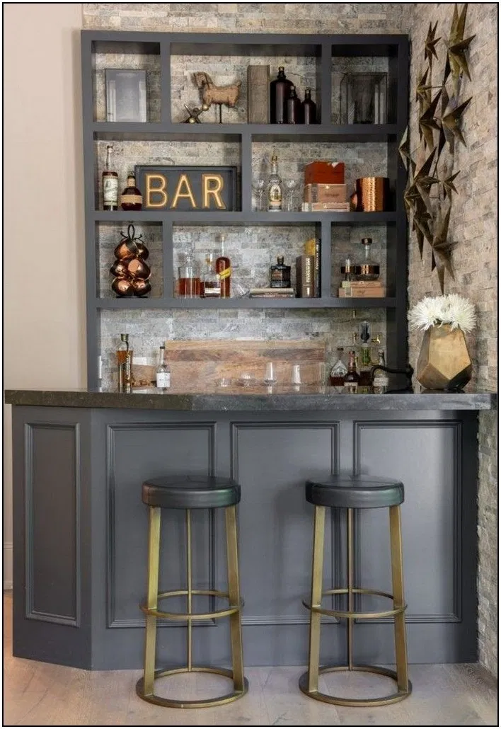 110 On A Budget Diy Home Decor Ideas For Your Small Apartment 3 In 2020 Home Bar Rooms Home Bar Decor Dining Room Bar
