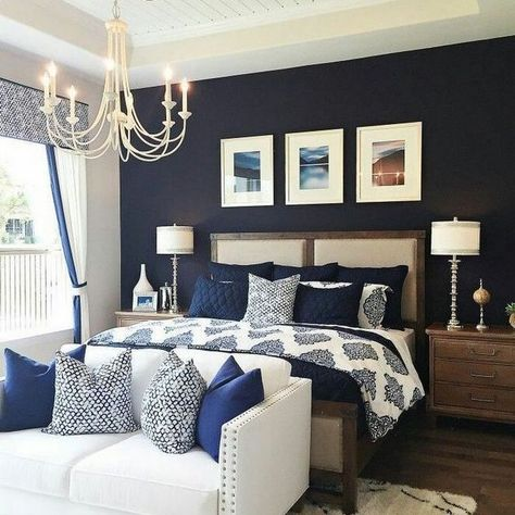 60 trendy bedroom blue paint ideas accent walls in 2020 on wall color ideas id=84838
