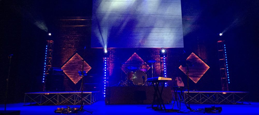 Glowing Woods | Church Stage Design Ideas