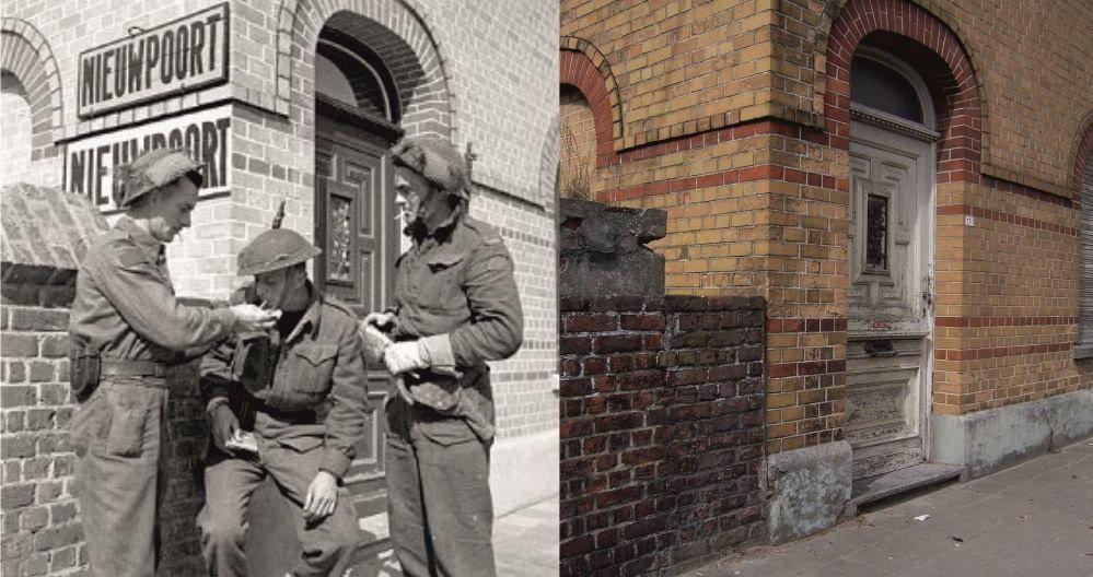 Then and now... Canadezen in Nieuwpoort, augustus 1944.