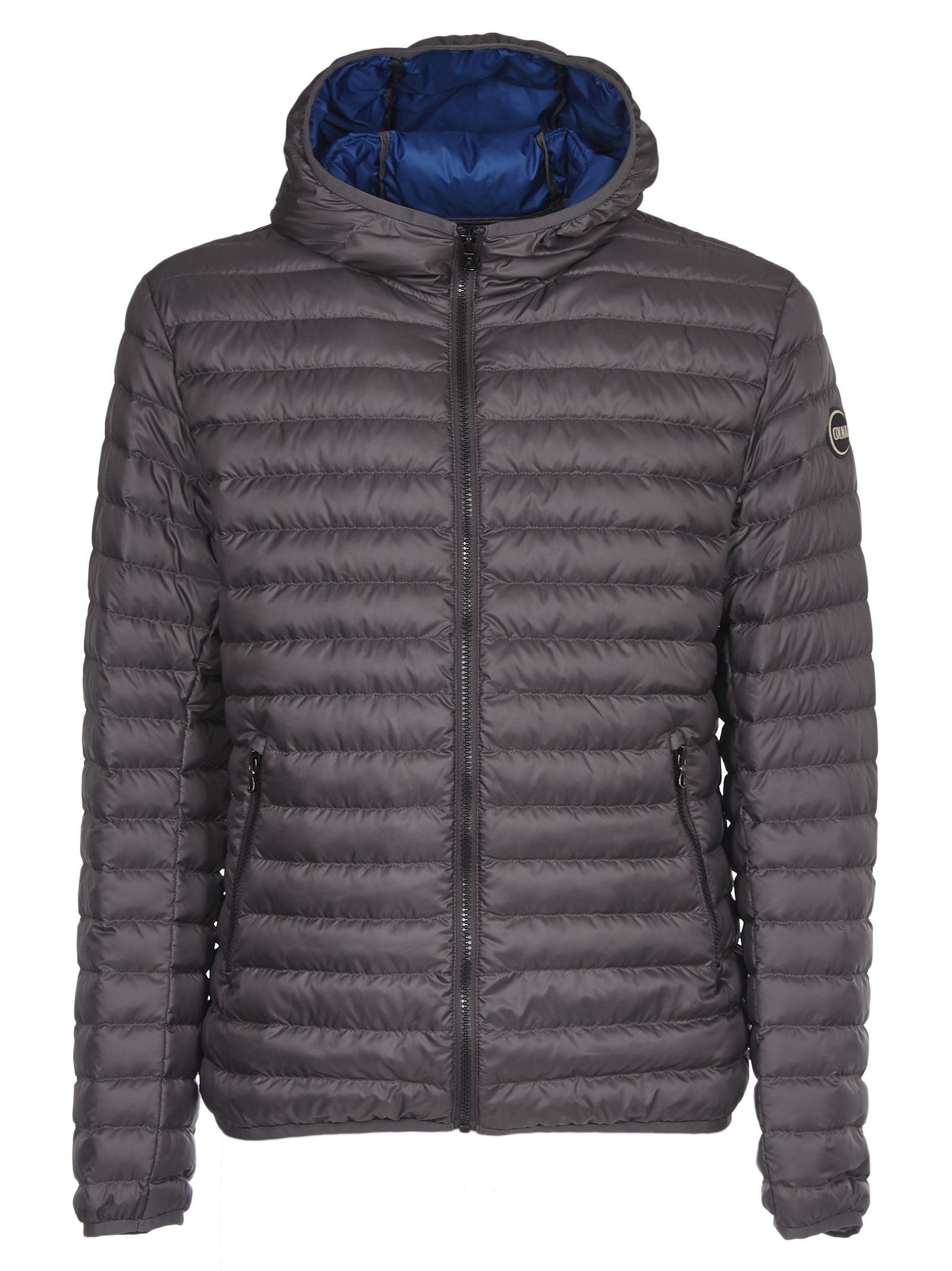Colmar Logo Patch Padded Jacket In Grey Modesens Padded Jacket Jackets Puffer Jackets [ 2136 x 1600 Pixel ]