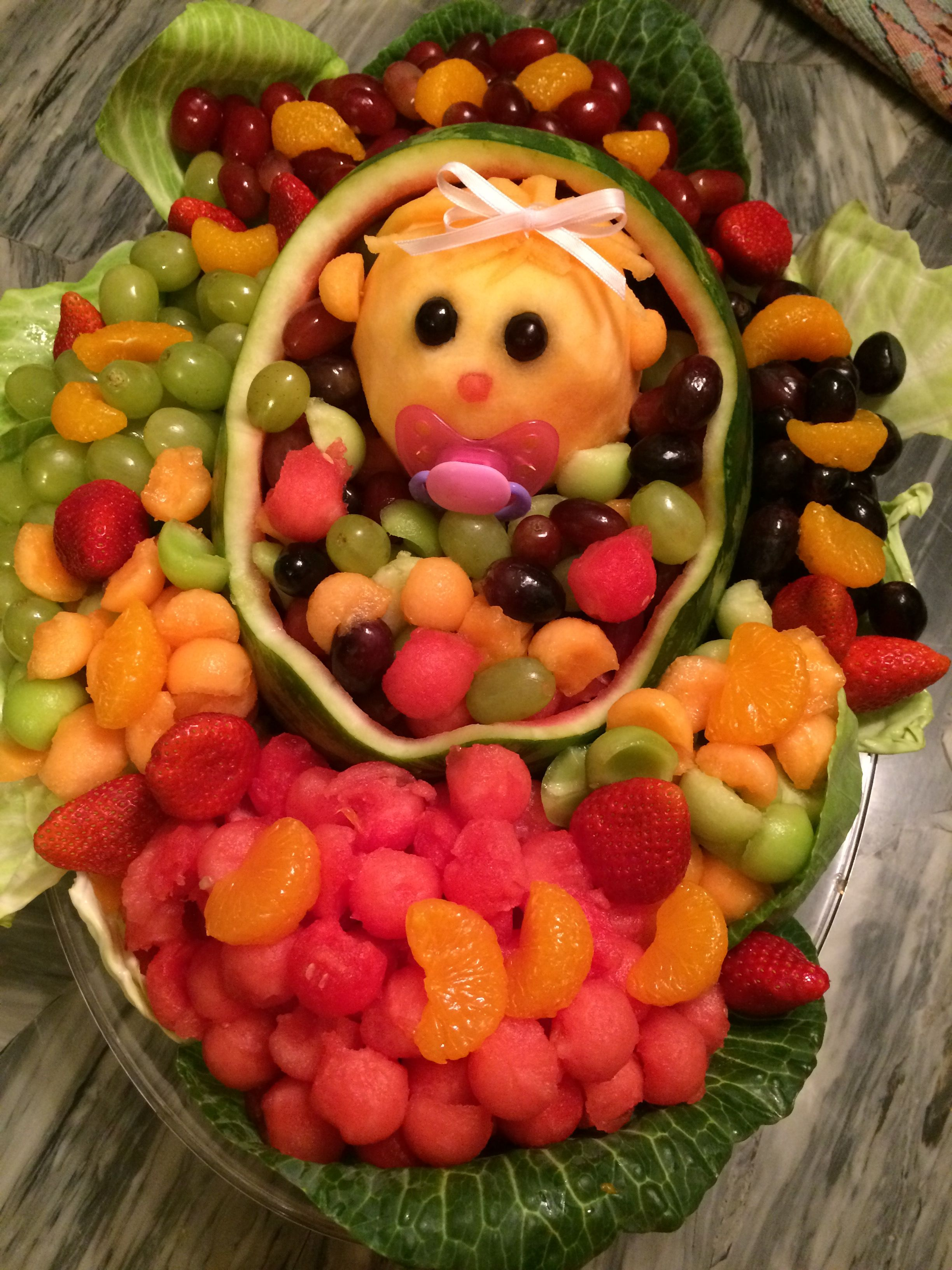 Baby Girl Watermelon Basket Cabbage Patch Style  Sooo Cute