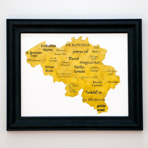 Belgian Beer map... this is so me! Soon, we will show you a map of ...