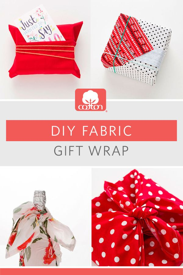 DIY Fabric Gift Wrap Wraps, Gift and Craft