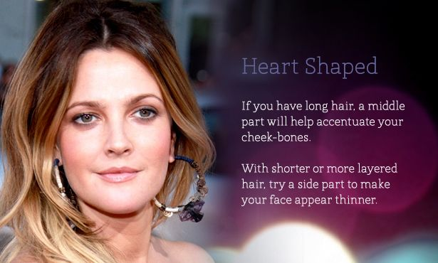 Parting Your Hair To Suit Your Face Shape Middle Part Hairstyles Face Shapes Face Shape Hairstyles