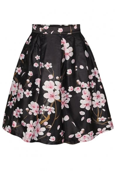 Peach Flowers Mini Skirt