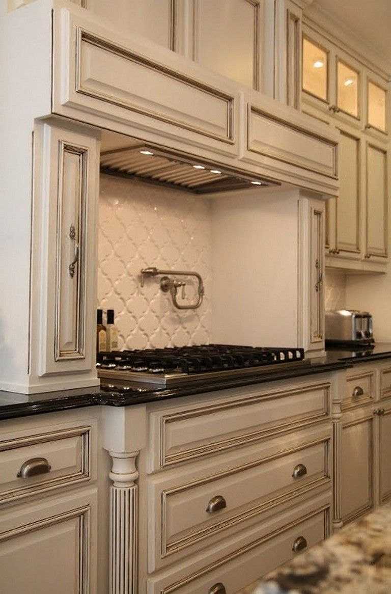 120 Easy And Elegant Cream Colored Kitchen Cabinets Design Ideas Glazed Kitchen Cabinets Kitchen Cabinet Colors White Glazed Cabinets