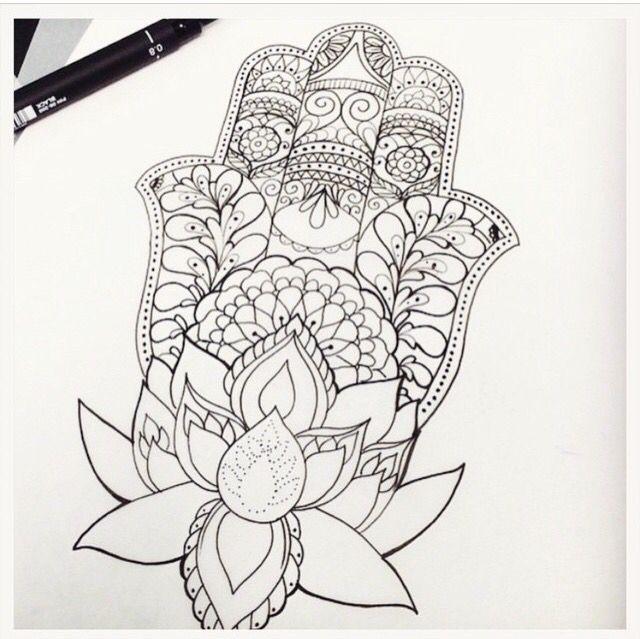 Tattoo design the hamsa hand lotus flower tattoos tattoo design the hamsa hand lotus flower mightylinksfo