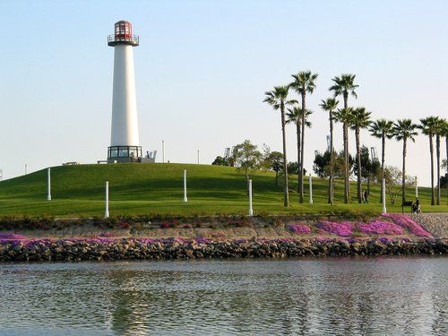 Light House At Queensway Bay In Long Beach Ca