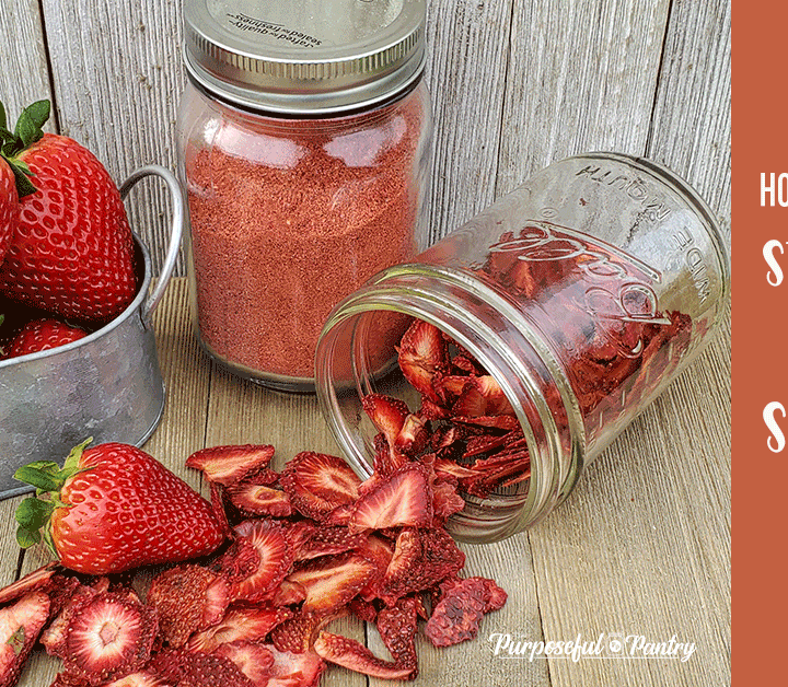 How To Dehydrate Strawberries And Make Strawberry Powder Dehydrated Strawberries Dehydrated Fruit Strawberry Powder