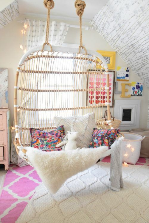 These Teenage Bedrooms Are To Do Die For I Mean How Amazing Is This Hanging Chair For The Bedroom More In Diy Girls Bedroom Cute Bedroom Ideas Simple Bedroom