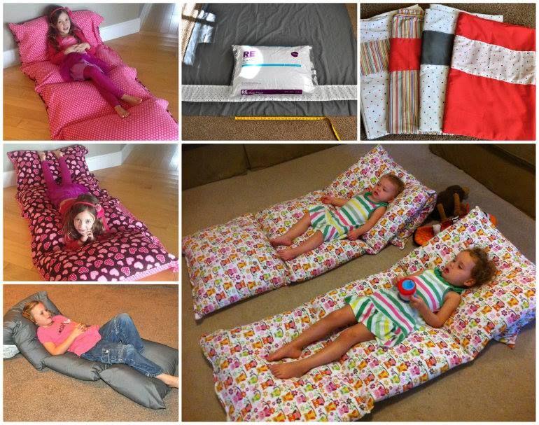 Diy Floor Pillow Bed Easy To Follow Video Instructions Giant Floor Pillows Diy Pillows Pillow Mattress